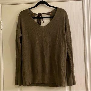 Dynamite Open Back Sweater in Size M